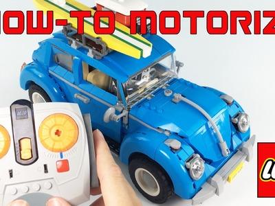 HOW TO Motorize Lego Volkswagen Beetle #10252 DIY