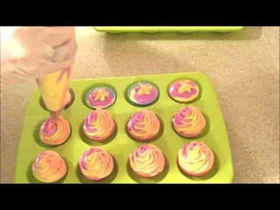 Making and Unmolding Rainbow Sherbet Mini Soap Cuppycakes