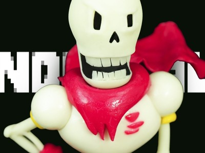"PAPYRUS UNDERTALE ""TUTORIAL"" ✔POLYMER CLAY ✔COLD PORCELAIN"