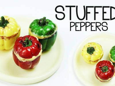 Polymer Clay Stuffed Peppers TUTORIAL | polymer clay food