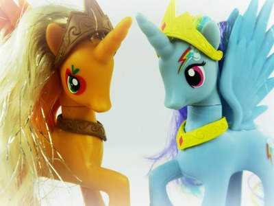 Rainbow Dash and Apple Jack become Alicorn Princesses! - MLP