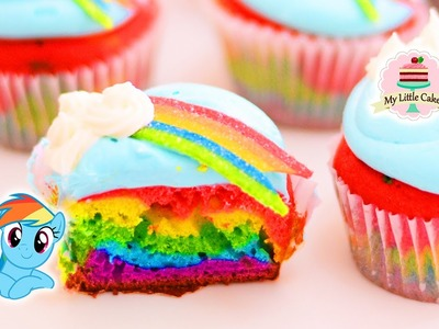 RAINBOW DASH CUPCAKES | MY LITTLE PONY | MY LITTLE CAKES
