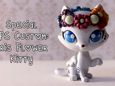 Special LPS Custom: Iris the Rainbow Flower Crown Kitty!