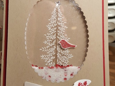 """Thoughtful Branches Bundle -- Christmas """"shaker"""" Card"""
