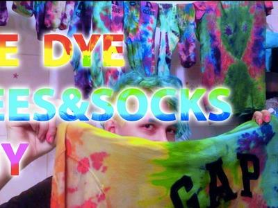 TIE DYE TEES & SOCKS DIY