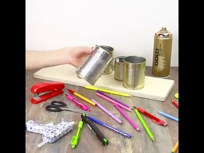 A DIY pen holder | It will look great on my desk | 5 Minute Crafts