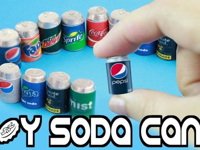 DIY |  Miniature Cola - Soda Realistic - Pop Cans - Easy crafts for dolls - simplekidscrafts