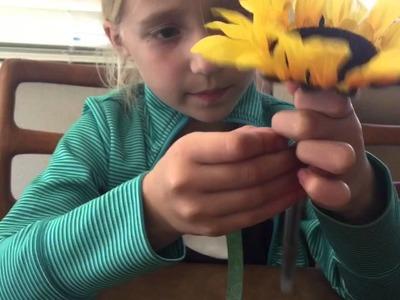 Kid Crafts- DIY Flower Pens