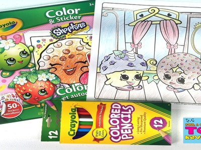 Shopkins Crayola Coloring Page | D'Lish Donut Mini Muffin DIY Speed Color | PSToyReviews