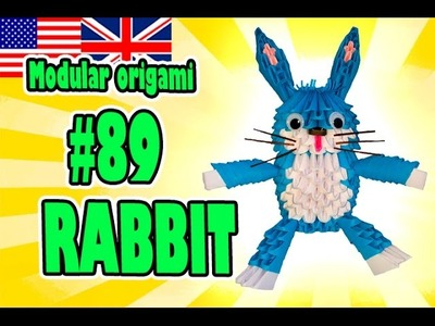 3D MODULAR ORIGAMI #89 RABBIT