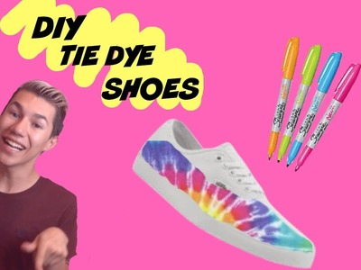 Back to school diy | diy tie die shoes | Make old shoes new again