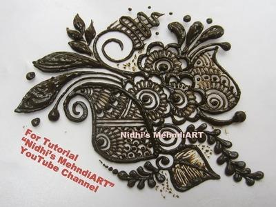 Best Arabic Patch Tattoo Henna Mehndi Design Tutorial