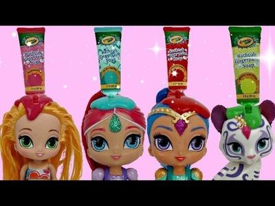 COLOR CHANGING D.I.Y. with Leah from Shimmer & Shine. CRAYOLA Fingerpaint Bath, Learn Colors. TUYC