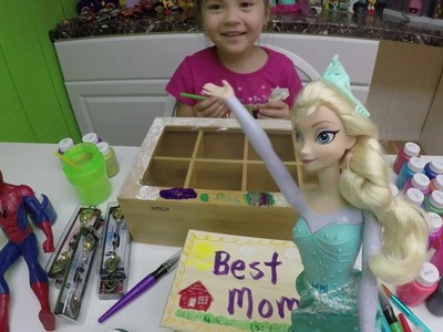CRAYOLA DIY GIFTS KIDS CAN MAKE for Mother's Day + Giant Egg Surprise Toys Frozen Elsa SpiderMa