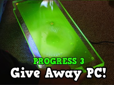 Custom Water cooled Gaming PC Build Giveaway World Wide - PROGRESS 3 DIY RESERVOIR Liquid Cooled