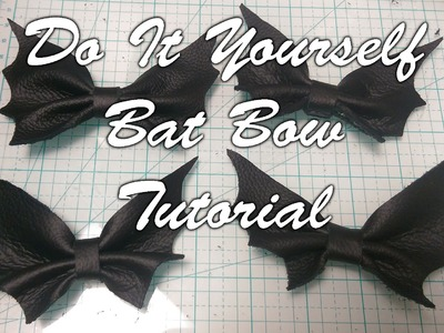 ✂ DIY Bat Bow Tutorial - Real Leather & No Sew!! Easy Goth Accessories! ✂