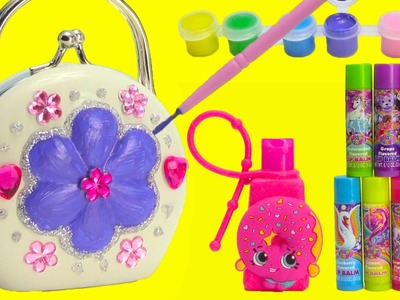 DIY Cosmetics Purse by Melissa and Doug with Lisa Frank Lip Balms and Surprises