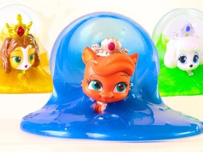 DIY Disney Princess Palace Pets slime surprise & Slime Eggs Kids Game
