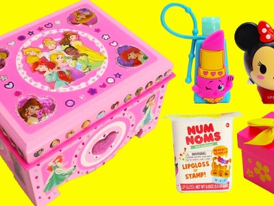 DIY Disney Princess Treasure Box with Num Nom Lip Balms, Tsum Tsum, Shopkins and More