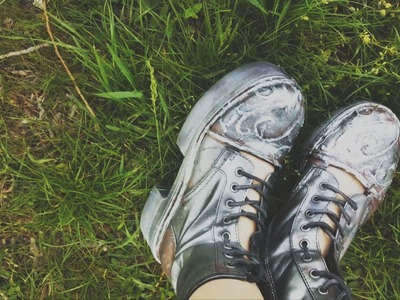 DIY Emma Bloom's Metallic Boots (Miss Peregrine's Home for Peculiar Children) Peregrine Series