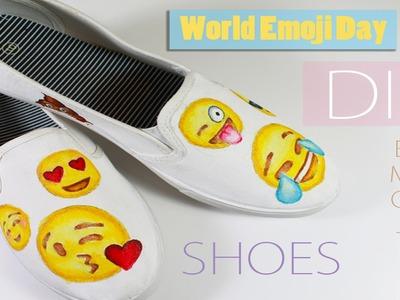 DIY Emoji Shoes - World Emoji Day Collab