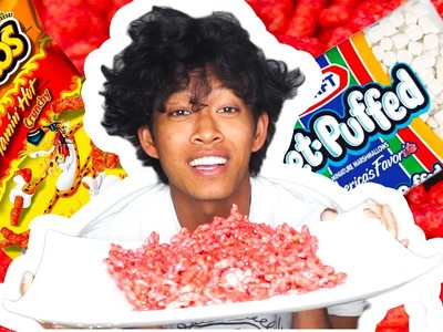DIY Hot Cheetos Krispies!! Taste test Sweet & Spicy!!