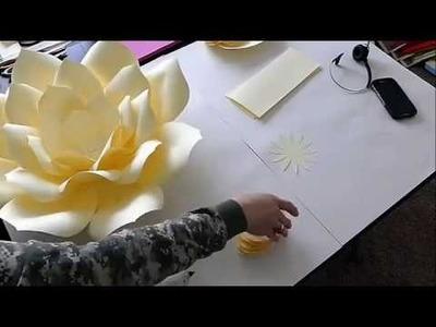 DIY Large Paper Flower, Paper flower Stencil, Paper Flower Backdrop