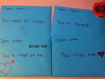 DIY: Open When Letters to boy & girlfriend.best friend etc. (Re-upload)
