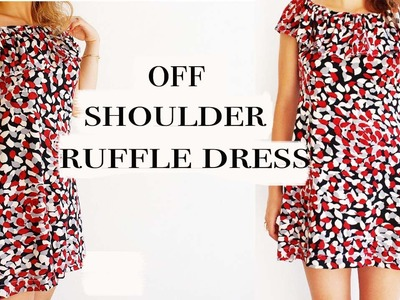 DIY Ruffle-off shoulder dress