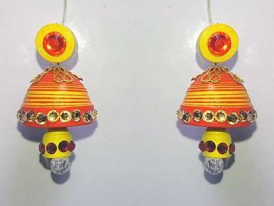 Double color Quilling Earrings | Waterproof Quilling Earrings making tutorial