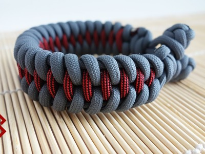 Dragon's Teeth Knot and Loop Paracord Bracelet Tutorial (No Buckles)