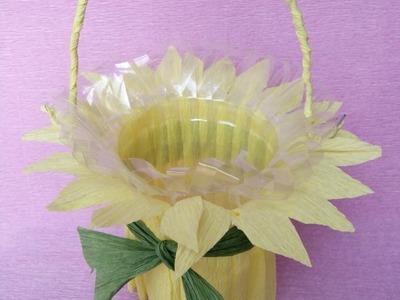 How to make basket from plastic bottles | Làm giỏ hoa từ chai nhựa