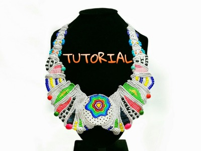 Macrame Necklace 'Happy Planet' Tutorial
