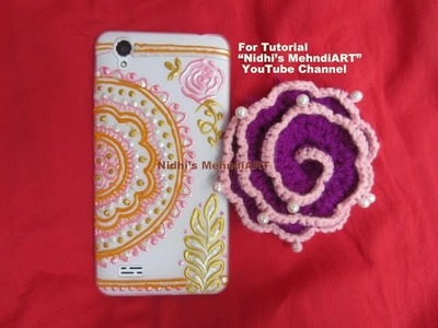 Mehndi Henna Art Inspired Mobile Case Cover Design Decoration Tutorial with Acrylic Marker