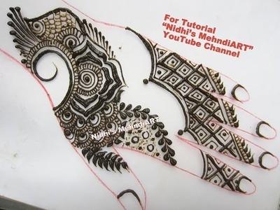 Modern Rose Traditional Henna Mehndi Design Tutorial for Back Hand