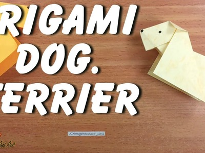 Origami dog . Terrier.