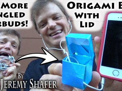 Origami No-Tangled Earbuds Box with Lid (no music)