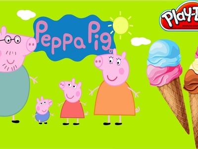 Play Doh Peppa Pig - Diy Ice Cream New Exotic Uncanny Shape play dough & Peppa Pig toys