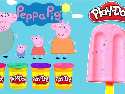 Play Doh Toys!! - DIY Create Colorful Dot Ice Cream With Peppa Pig Español