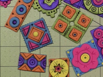 Polymer Clay tile tutorial; Geometric Patterns