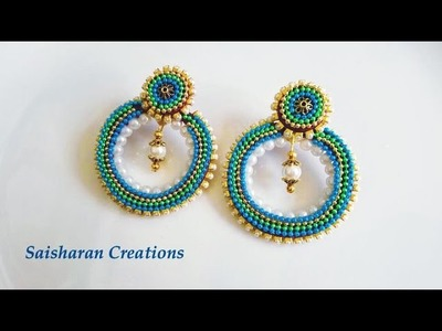 Quilling Chandbali style earrings Tutorial