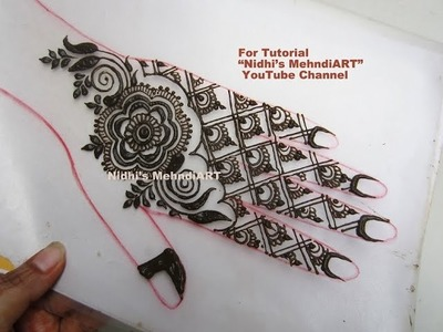 Simple Indo Western Arabic Henna Mehndi Design Tutorial for Beginners