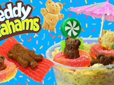 TEDDY GRAHAMS Dirt Pudding Candy Dessert DIY Kids Snacks Back To School & Swim Party Summer Treats