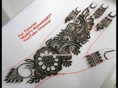 Trendy Arabic Henna Mehndi Design Tutorial for Beginners