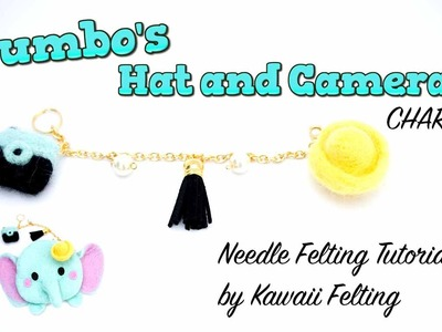 Tsum Tsum Dumbo Needle Felting Tutorial |  [feat. BudgetHobby] | Hat and Camera Charms Key Chain