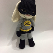 Bat Hero Bunny Amigurumi PDF Pattern / Batman Hero Bunny - Beginner / Batman amigurumi / Batan Bunny / Batman Rabbit