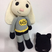 Bat Hero Bunny Amigurumi PDF Pattern / Batman Hero Bunny - Beginner / Batman amigurumi / Batan Bunny / Batman Rabbit