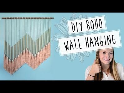 DIY Boho Wall Hanging. Pinterest Inspired