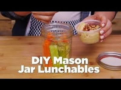 Diy mason jar lunchable