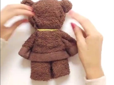 How to make a super cute Teddy Bear wearing a towel